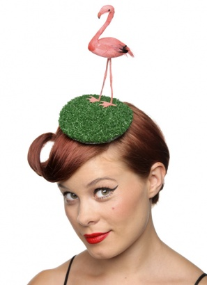 flamingo fascinator hat, 45£, Rokit