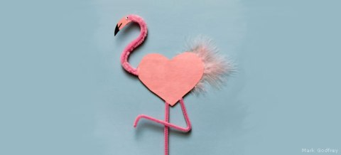 Flamingo Valentine DIY, National Wildlife Federation
