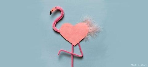 Flamingo Valentine DIY, National Wildlife Federation
