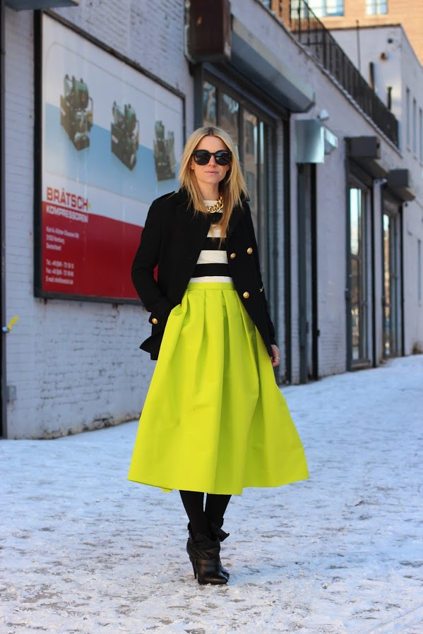 Blair of Atlantic-Pacific in Tibi skirt ($525)