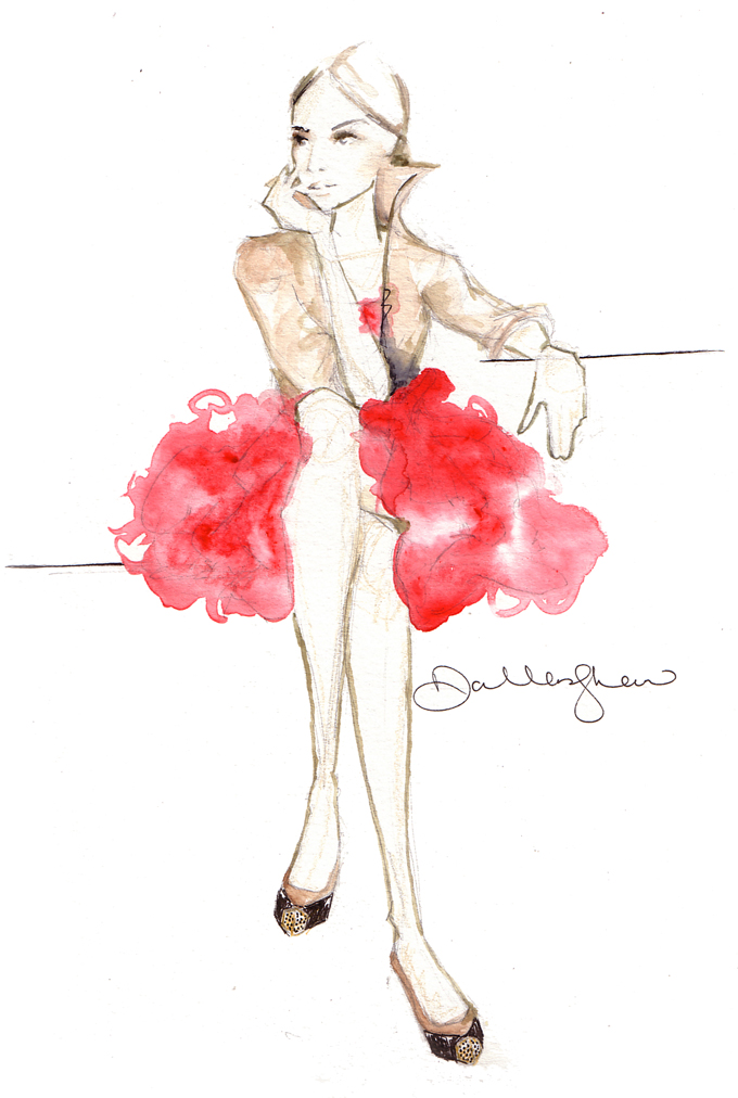 fashion illustration, by Dallas Shaw