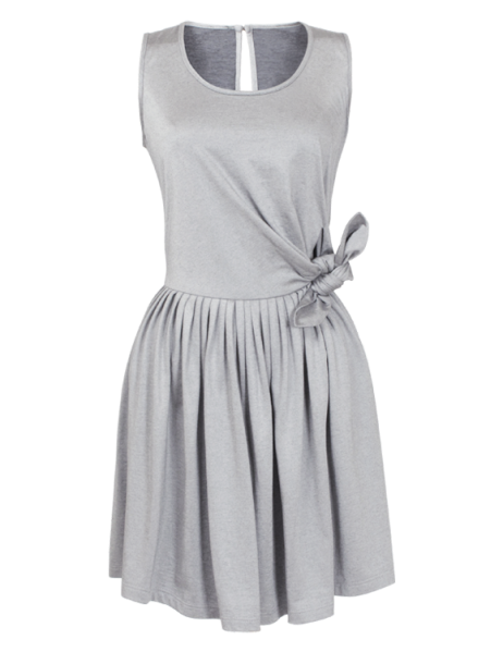 wrap-over dress in silvery jersey, €290, Repetto
