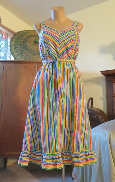 1970's-80's striped sun dress, $20 at Dandelion Vintage