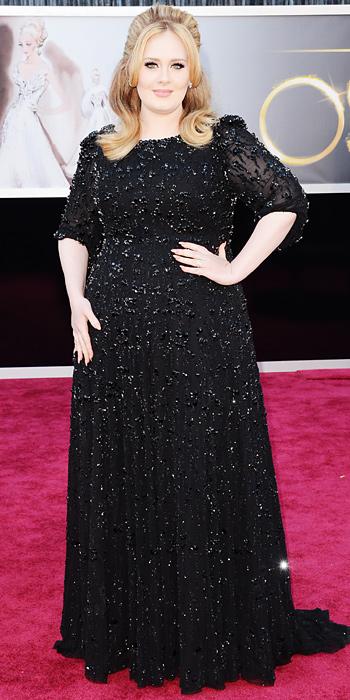 Adele in Jenny Packham