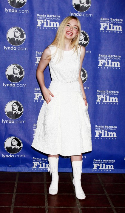Yay or Nay: Elle Fanning's white boots