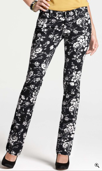 floral denim, $42.60, via Ann Taylor