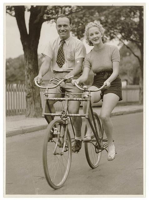 What could be better than cycling side-by-side with your sweetheart?