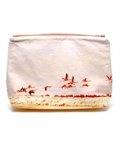 Dezso flamingo printed clutch, £60, Browns Fashion