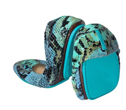 Azure Snake, $295, Tieks