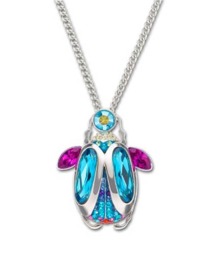 Congratulations Nicolett! You win this awesome pendant translucent Swarvoski crystal beetle