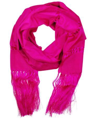 Celeste House pink scarf, $60, L'Atitude