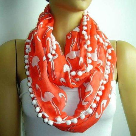 flamingo print scarf, $14.99, Istanbuloya