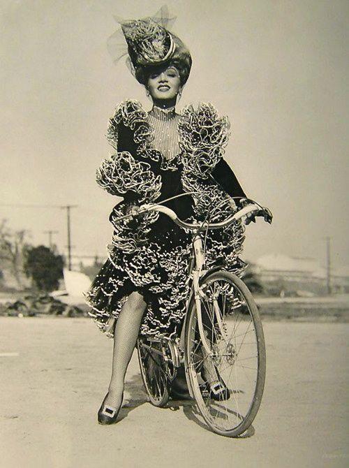 Marlene Dietrich in full saloon garb, image via Dandelion Vintage
