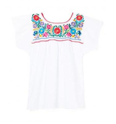 Mexican Bazaar blouse, $55, L'Atitude