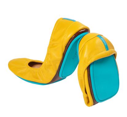 Mustard Yellow, $165, Tieks