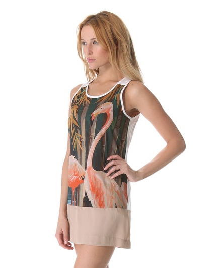 No. 21 flamingo tank dress, $420, Shopbop