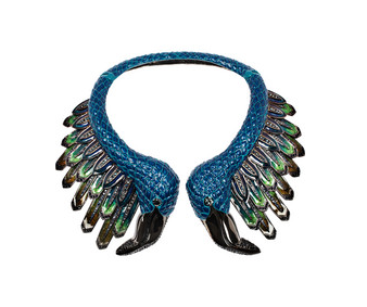 Roberto Cavalli flamingo necklace, $4340, Net-a-Porter