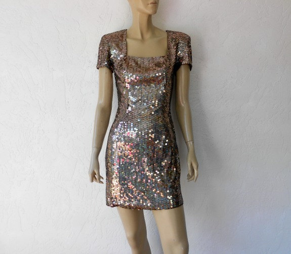 80's sequin cocktail dress, $46 at Luv of Vintage