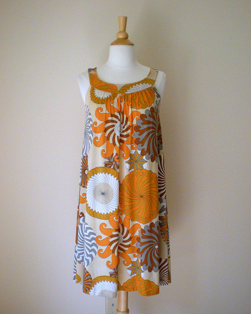 Vintage 1960's psychedelic trapeze dress, $42 at Chimp Vintage