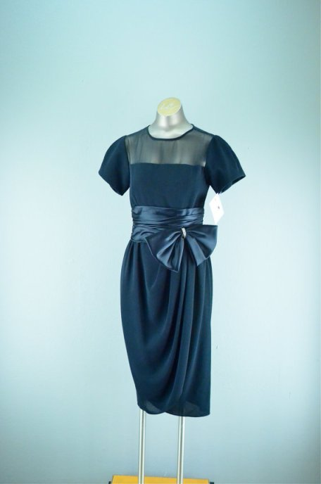 Vintage '50s black dress, never worn, size medium, $68 at Mel's Vanity