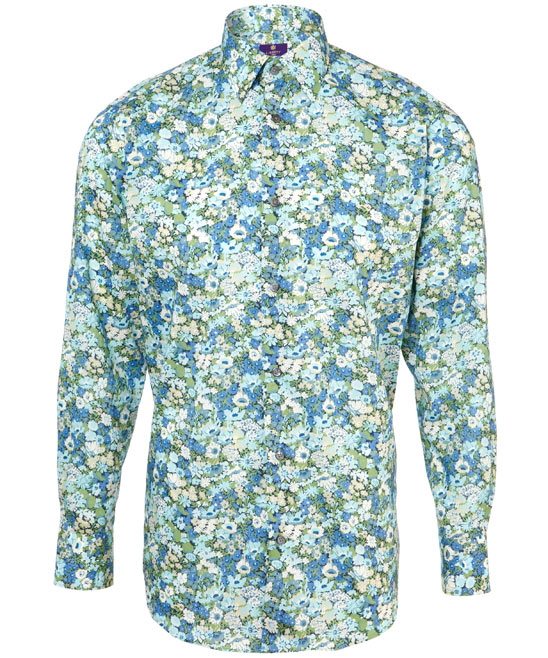 The blue thorpe floral shirt, 130 GBP