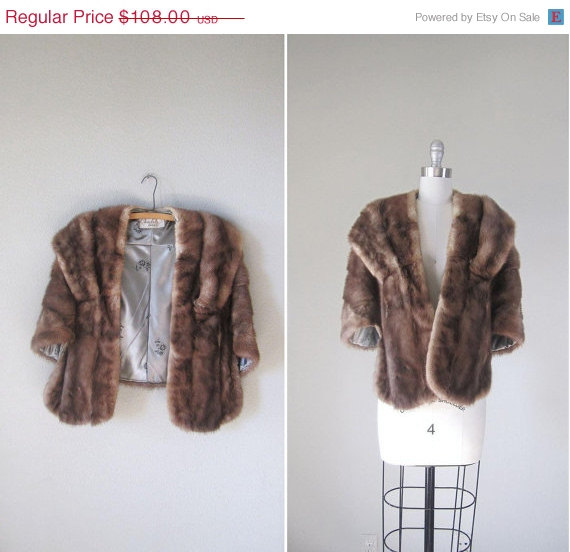 Vintage '50s - '60s mink stole, $91 on sale at Revolving Styles