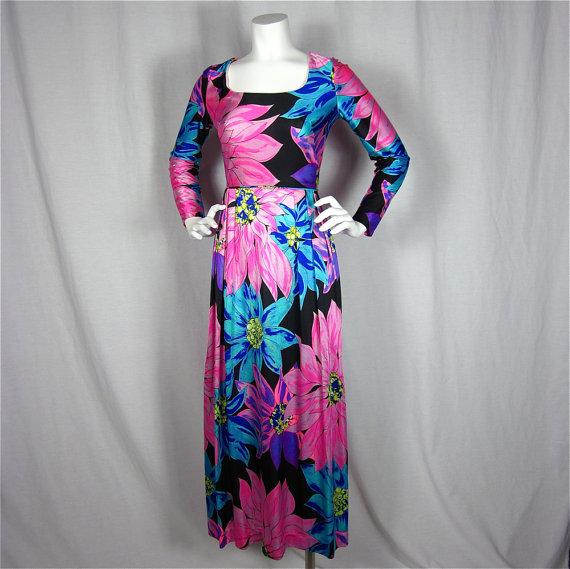 Floral vintage 1970's dress, $65 at Firefly Vintage