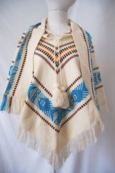 Vintage South American embroidered poncho, $25 at Brown Loves Black