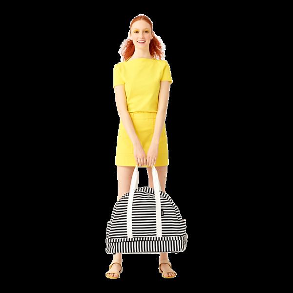The Weekender Bag in Stripe, $180, KS Saturday