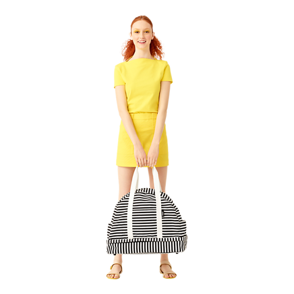 The Weekender Bag in Stripe, $180, KS Saturday