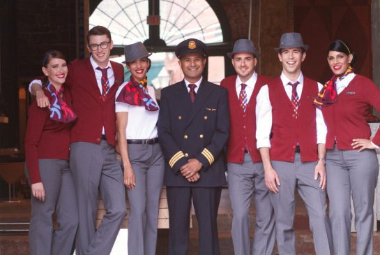 Air Canada's discount airline, Air Canada Rouge, introduces a new outfit