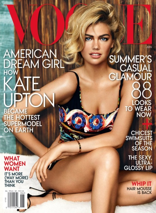 Kate Upton graces the cover of Vogue US