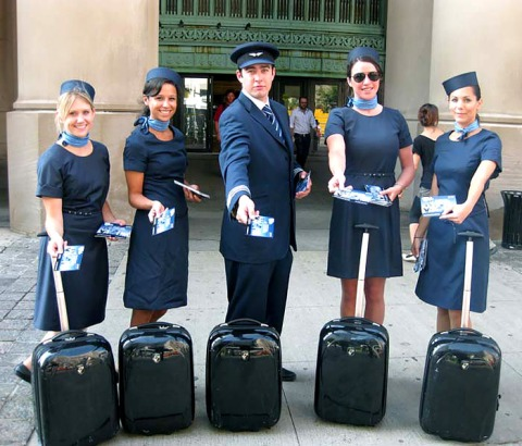 Porter Airline's crew garb is way more my style- just look at those babes