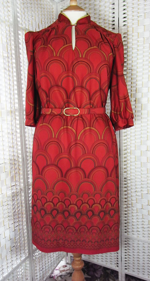 Vintage red 1970's dress, 15 GBP at Second Hand Rose Worc