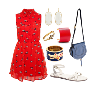 Red + navy + white, inspired by Port Stanley, Ontario