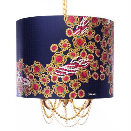 silk scarf lamp shade, via Apartment Therapy