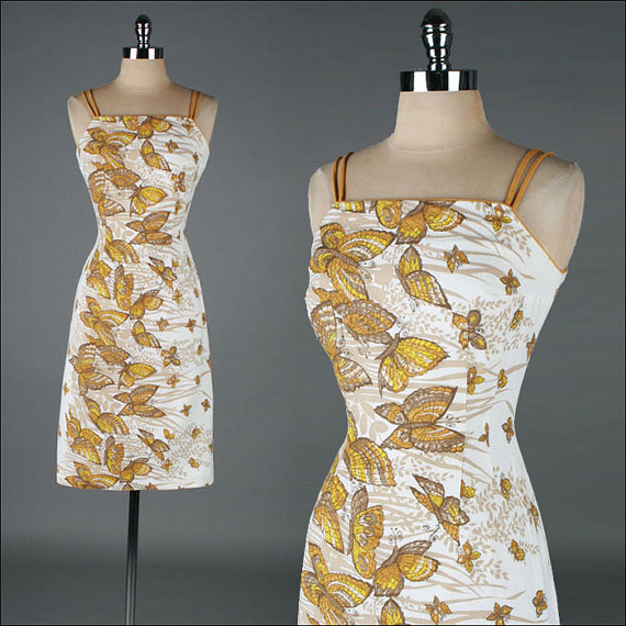 Vintage 1950s cotton piqué sundress, $176 at Mill Street Vintage on Etsy