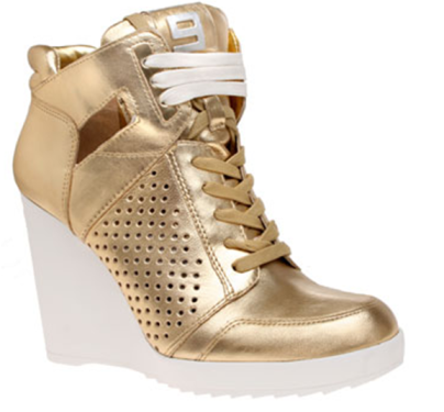 Shiny wedge sneaker at Nine West, $69 on sale (summer sales!)     Shiny wedge sneaker at Nine West, $59 on sale (summer sales!)