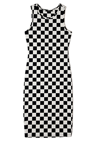 Bold Checkered Midi Dress, at Forever21