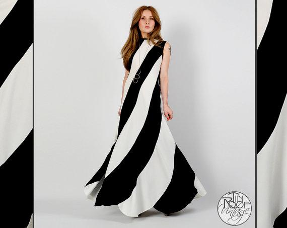 Vintage 1970s striped maxi dress, $198 at Tin Roof Vintage