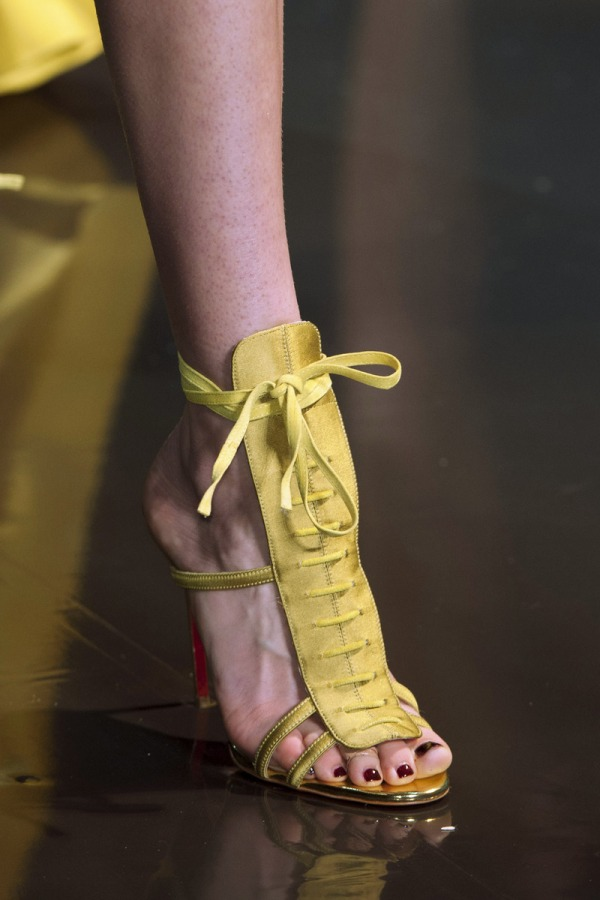 The buttery extended lace-up stiletto at Alexandre Vauthier is a sexy wrap
