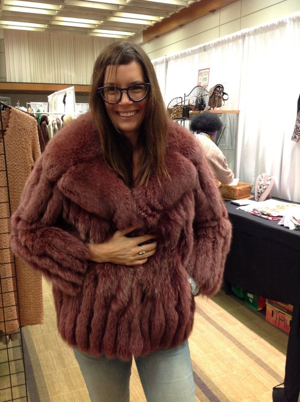 Yes I really almost purchased a pink fox fur jacket. Who knew there were pink foxes? See - lots of reasons to visit the Toronto Vintage Clothing Show