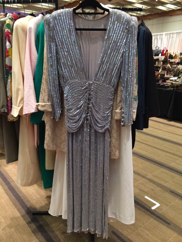 This insanely gorg gown accosted me as I entered the Toronto Vintage Clothing Show this past Sunday. Have yourself a gleeful time trip by dropping into the Wychwood Barns Vintage Clothing Show this Sunday, 10am-5pm in Toronto